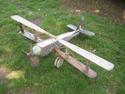 Plane with oars