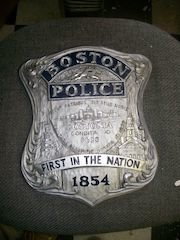 Boston Police Badge Placque