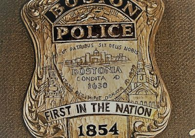 Boston Police Badge Placque